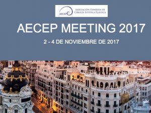 La Dra. Moreno en el AECEP Meeting 2017